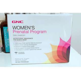 [全新] GNC Women's Prenatal Program 孕媽媽30日配方