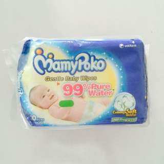 Mamypoko Gentle Baby Wipes 80pcs (2in1 Packet)