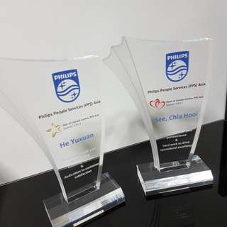 Customised Acrylic Trophy for Company / Office Event
