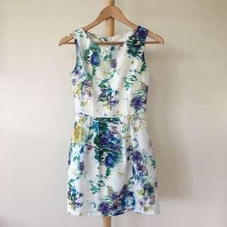 Paint Splash Dress with Pockets / Petite / XS / AU 4-6 / Cocktail / Wedding
