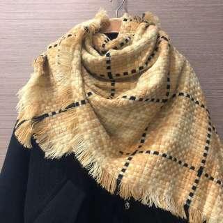 特價 馬賽克奶茶色系流蘇大披巾、大圍巾