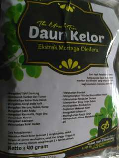 teh seduh daun kelor
