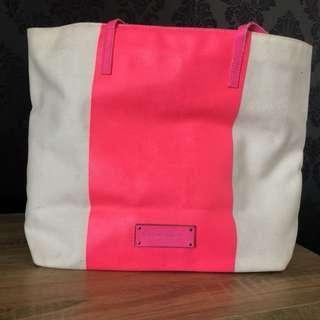 Victoria's Secret pink and white beach bag - Victoria secret