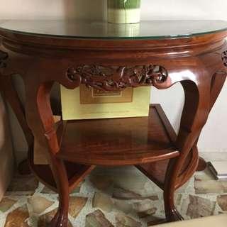 Vintage antique wooden side table