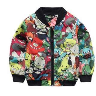 Cartoon biker jacket
