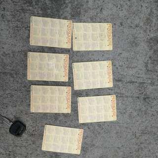 舊款PENTHOUSE閣樓裸女日歷咭,全部$30,7张,$30=7