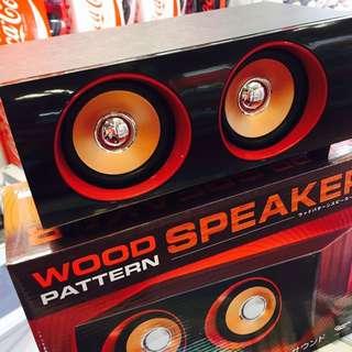 Speaker電腦音響復古筆記本音箱大木質家用USB喇叭