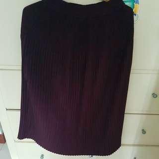 Skirt Purple Pleated