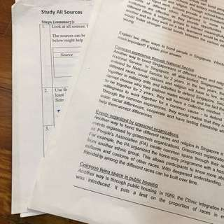 O level social study notes and cheat sheets