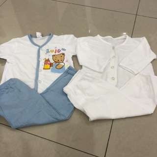 2 sets Baby Wear (0-6mths)