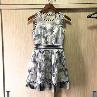Nego sampai deal. Solemio organza dress flower stripe / party dress / gaun pesta