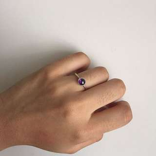 Pandora Purple Gem ring