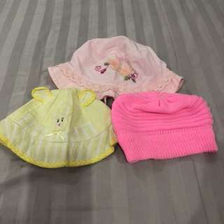 3 pcs Baby Girl Hat