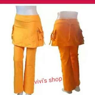 Celana senam rok kantong
