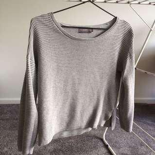 Grey crop sweater