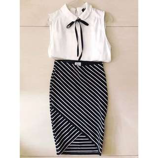 ZARA MEDIUM LONG SLIM FIT SKIRT