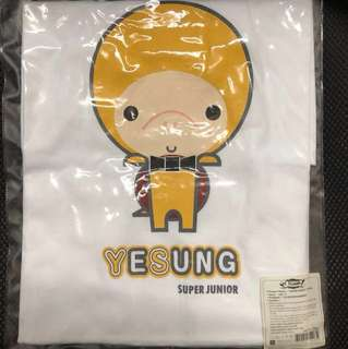 Super Show 2 T-Shirts Super Junior Yesung 藝聲 金鐘雲 卡通 Tee 周邊