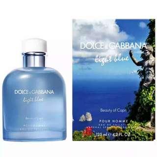 D&G light blue beauty of capri 125ml