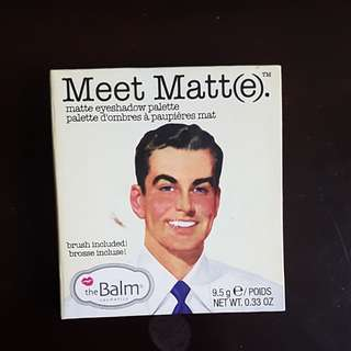 THE BALM COSMETIC  MATTE EYE SHADOW PALETTE