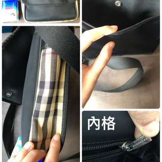 超新二手 日本 Burberry black label 斜背包 bag Japan man