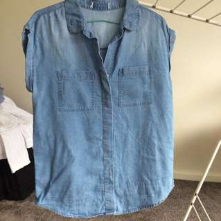 Denim summer top