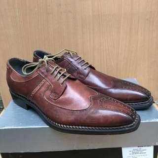 Sepatu Pantofel Mario Cuomo Brown Original
