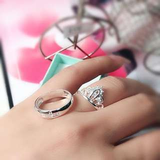 Couple ring (Authentic 92.5 Italy silver)