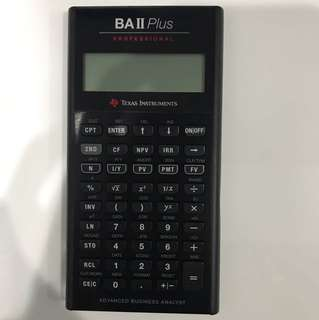 Texas Instruments BA II 2 Plus Professional Advanced Business Analyst Financial Calculator