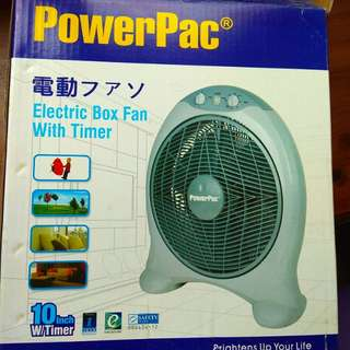 Electric box fan with timer (unused)