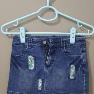 Denim Skirt ( blue )