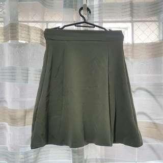GU Army Green Skater Skirt