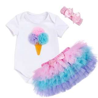 Baby Girl Romper & Tutu Dress
