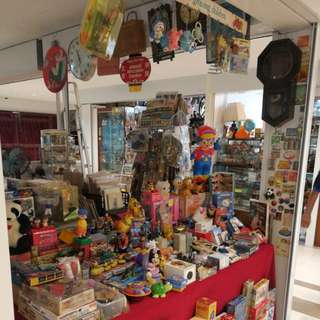 Old collectibles at Havelock II retail mall