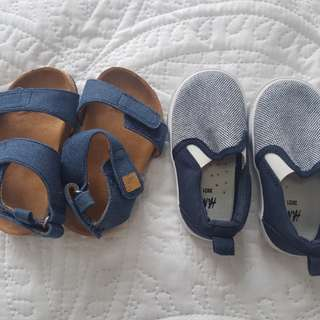 2 pairs of New H&M baby shoes