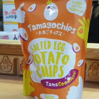 Salted Egg Potato Chips by Tamagochips (more flavorful than Irvins!)