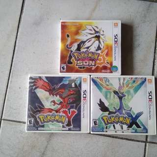 Pokemon X, Y and Sun