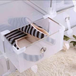 Transparent shoe storage👠👡👢
