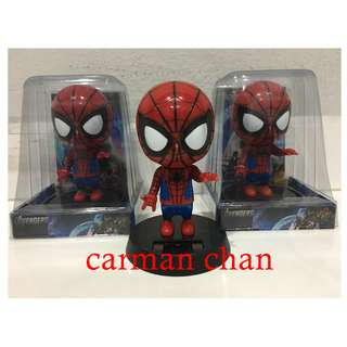 SPIDERMAN CARTOON SOLAR POWERED DANCING FLIP FLAP FOR HOME CAR TOY