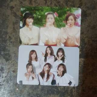 Apink  pink luv official photocard set (group and unit)