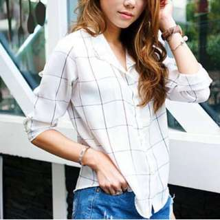 Boyfriend Shirt GRID CHECKERED
