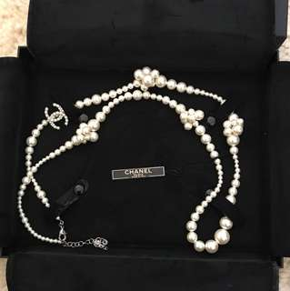 CHANEL 100cm pearl necklace - 2014 spring- brand new