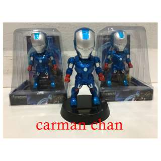 IRONMAN CARTOON SOLAR POWERED DANCING FLIP FLAP FOR HOME CAR TOY