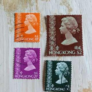 香港97回歸前英女皇頭像已銷郵票A03