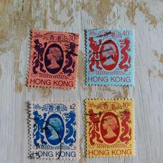香港97回歸前英女皇頭像已銷郵票A04