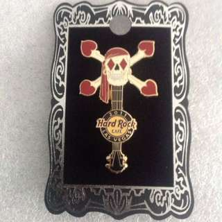 Hard Rock Cafe Pins - LAS VEGAS (STRIP) HOT 2011 SKULL GUITAR IN SUITS HEARTS!