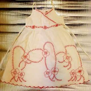 Tank top Red Embroidery Girl Dress size 10-11