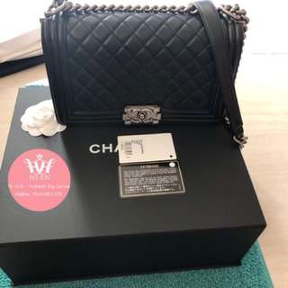 CHANEL LE BOY OLD MEDIUM LAMBSKIN