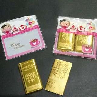 PROMO!! Coklat emas batangan 1 paket isi 2 free kemasan, Made in Singapore