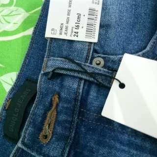 uniqlo Jeans High Rise Wide Fit