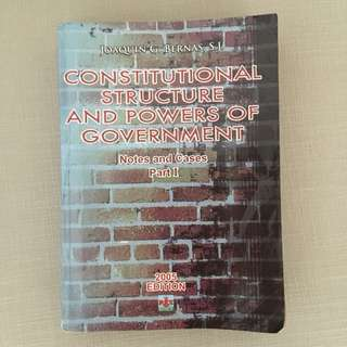 Constitutional Structure and Powers of the Government: Notes and Cases Part 1